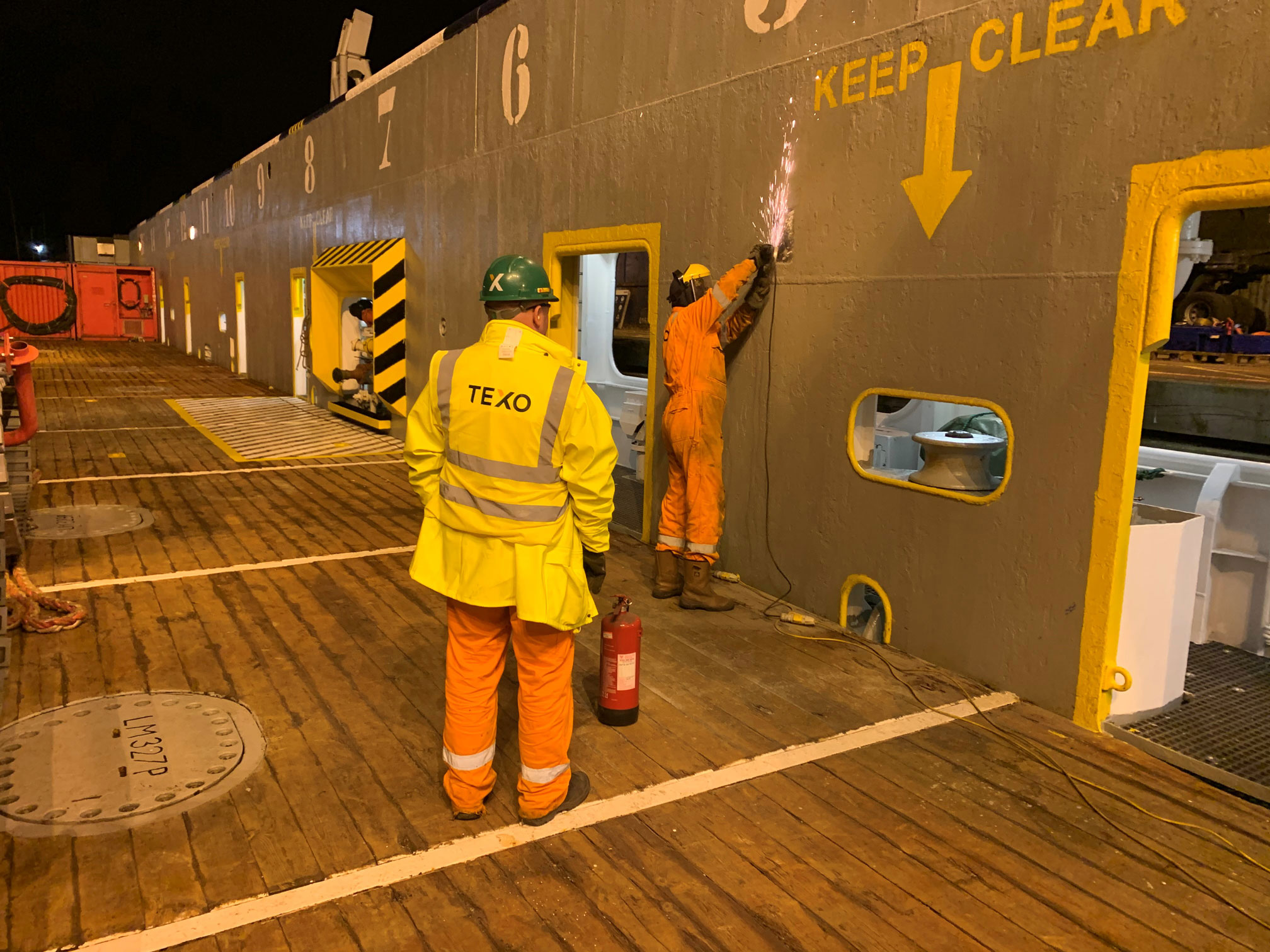 Subsea Trencher Mobilisation Aboard The Rem Cetus